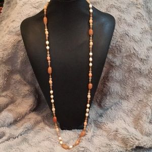 Hand strung necklace